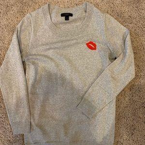 J.Crew lipstick sweater